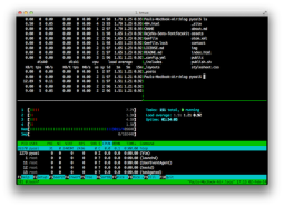 Split screen with tmux